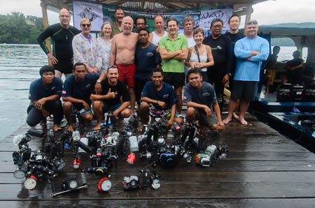 NAD Lembeh Strait Resort 2014 group photo